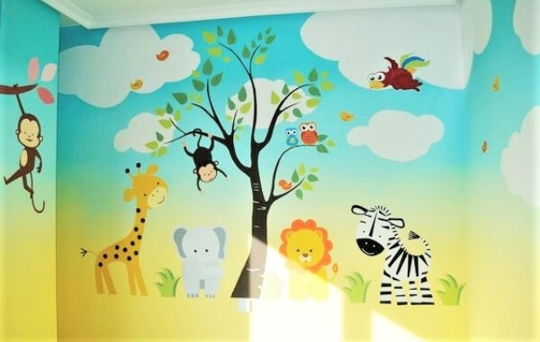 vẽ tranh tường mầm non hcm