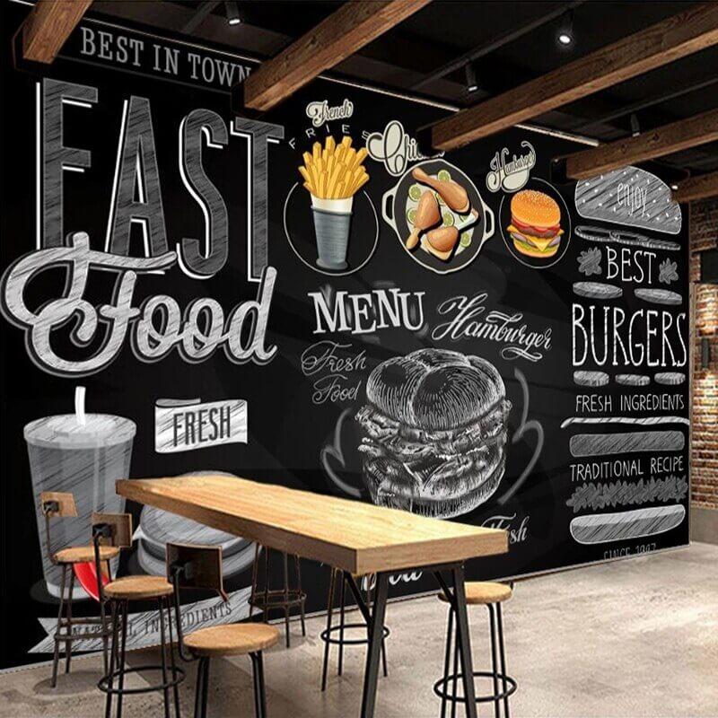 vẽ tranh tường nhà hàng đẹp