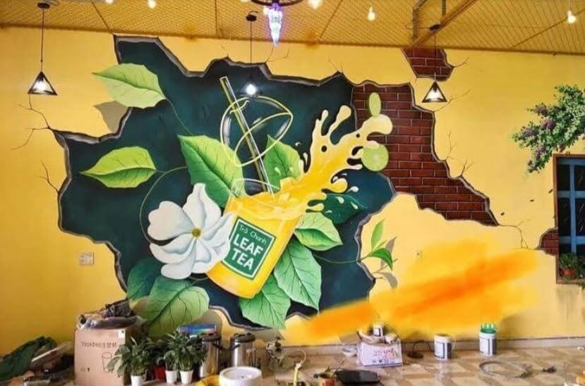 ve tranh tuong quan cafe1 vẽ tranh tường Mỹ Thuật Fly Art