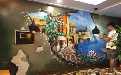 4 Lợi Ích & 4 Địa Chỉ Vẽ Tranh Tường Quán Cafe Đẹp Ấn Tượng